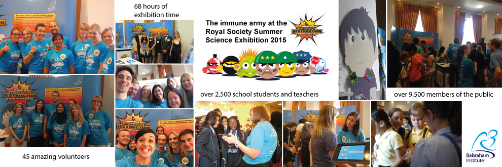 What a week! Babraham researchers at the Royal Society Summer Science Exhibition