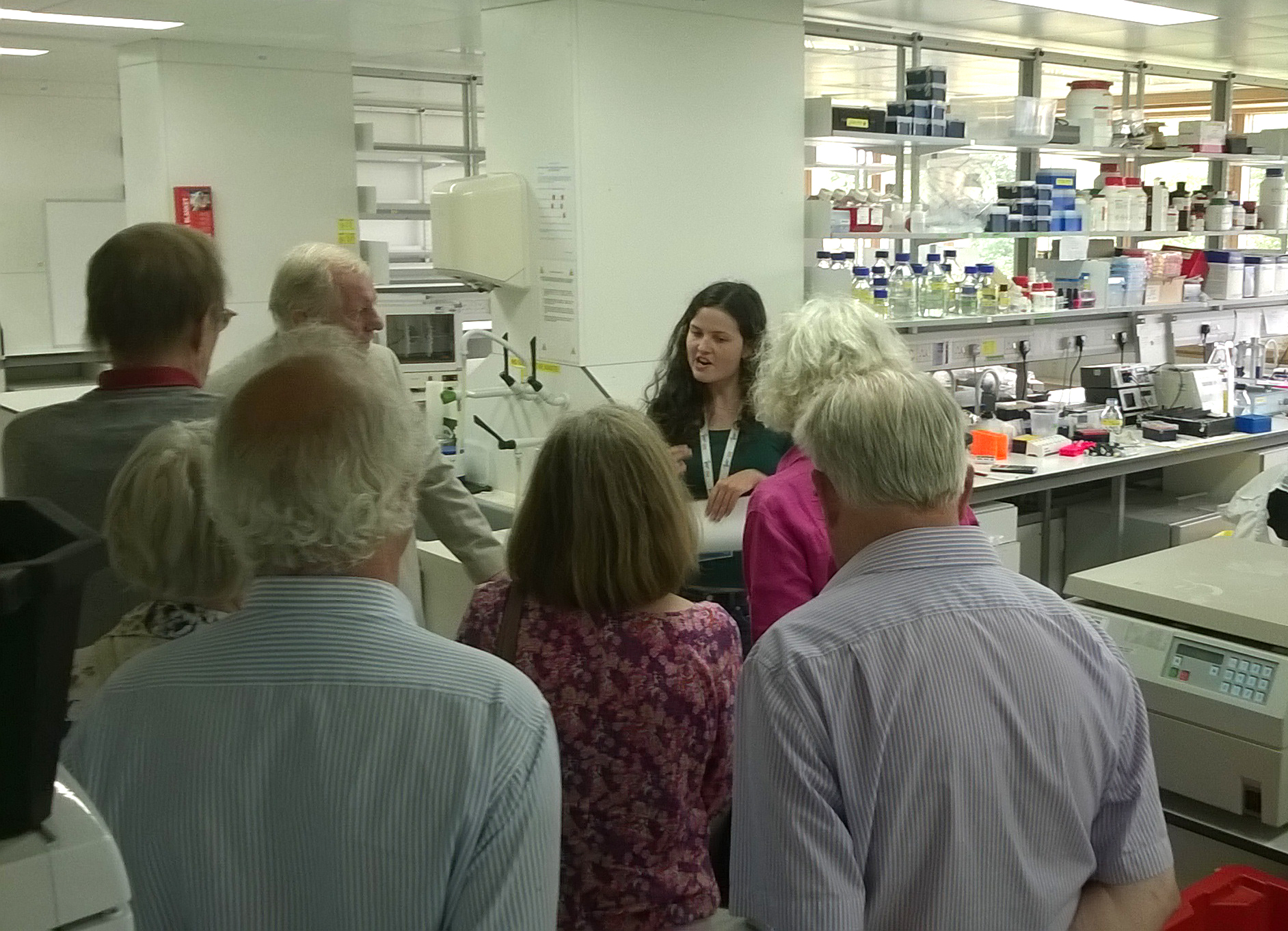 U3A visit in the Signalling Laboratories